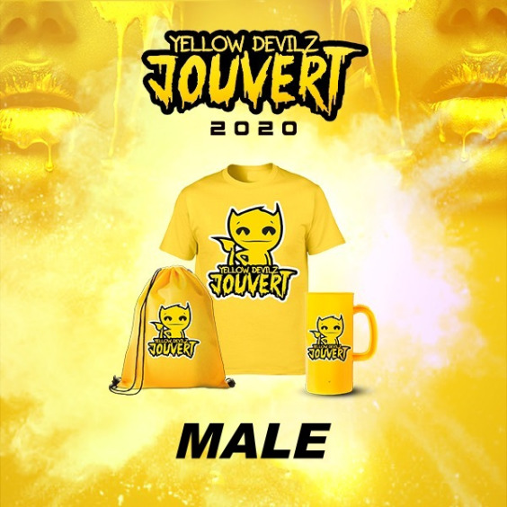 Yellow Devilz Male Costume
